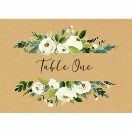 Cream Flowers Table Name