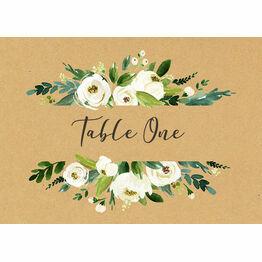 Cream Flowers Table Name