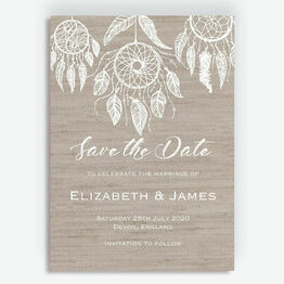 Dream Catcher Wedding Save the Date