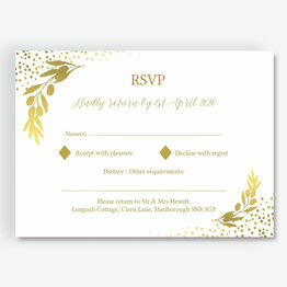 Golden Olive Wreath RSVP