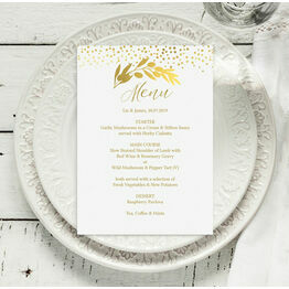 Golden Olive Wreath Menu