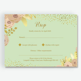 Mint, Blush & Gold RSVP