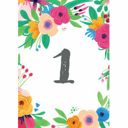 Floral Fiesta Table Number