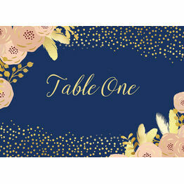 Navy, Blush & Gold Table Name