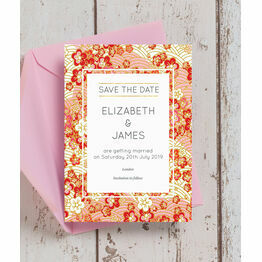 Origami Floral Wedding Save the Date