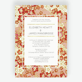 Origami Floral Wedding Invitation