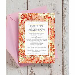 Origami Floral Evening Reception Invitation