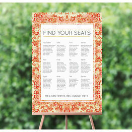 Origami Floral Wedding Seating Plan