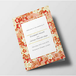 Origami Floral Wedding Order of Service Booklet