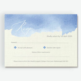 Pastel Blue Watercolour RSVP