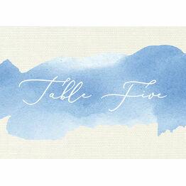 Pastel Blue Watercolour Table Name
