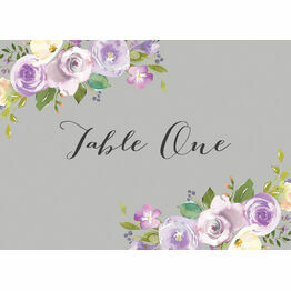 Pastel Lilac Flowers Table Name