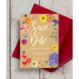 Pressed Flowers Wedding Save the Date