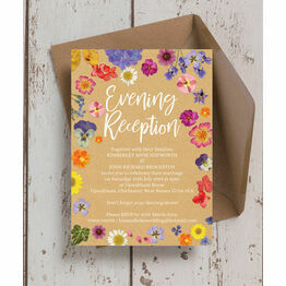 Pressed Flowers Evening Reception Invitation