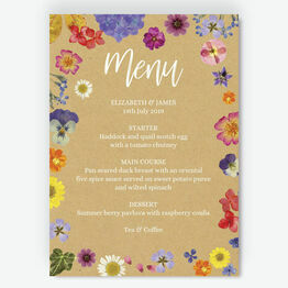Pressed Flowers Menu