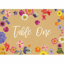 Pressed Flowers Table Name