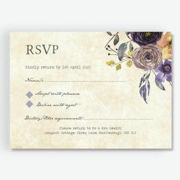 Purple Floral RSVP