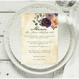 Purple Floral Menu