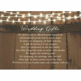 Rustic Barrel & Fairy Lights Gift Wish Card