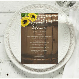 Rustic Barrel & Sunflowers Menu