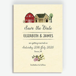 Rustic Farm Wedding Save the Date