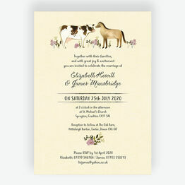 Rustic Farm Wedding Invitation