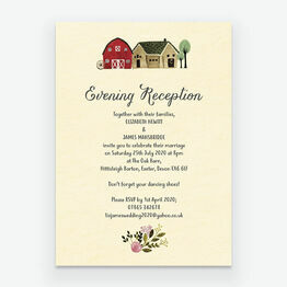 Rustic Farm Evening Reception Invitation