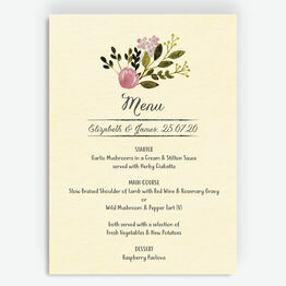 Rustic Farm Menu