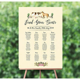Rustic Farm Wedding Seating Plan