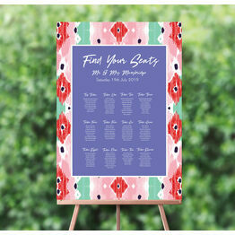 Summer Festival Wedding Seating Plan