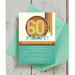 Retro 1960s 30th Birthday Party Invitation