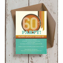 Retro 1960s 40th Birthday Party Invitation