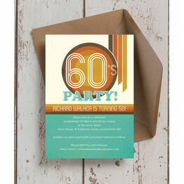 Retro 1960s 50th Birthday Party Invitation
