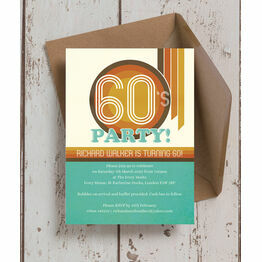 Retro 1960s 60th Birthday Party Invitation