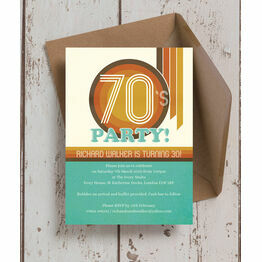 Retro 1970s 30th Birthday Party Invitation