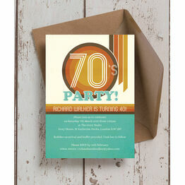 Retro 1970s 40th Birthday Party Invitation