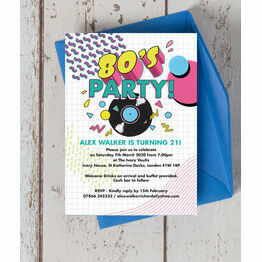 Retro 1980s 21st Birthday Party Invitation