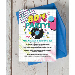 Retro 1980s 30th Birthday Party Invitation