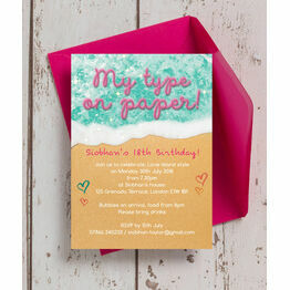 Island of Love 18th Birthday Party Invitation