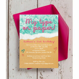 Island of Love 21st Birthday Party Invitation