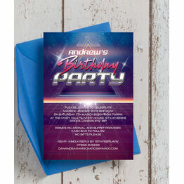 Retro SciFi Birthday Party Invitation