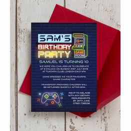 Gaming Themed Birthday Party Invitation