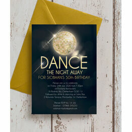 Disco Ball 50th Birthday Party Invitation