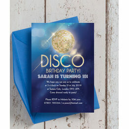 Disco Party Birthday Invitation