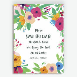 Floral Fiesta Save the Date