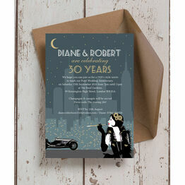'The Roaring Twenties' 30th / Pearl Wedding Anniversary Invitation