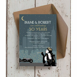 'The Roaring Twenties' 50th / Gold Wedding Anniversary Invitation
