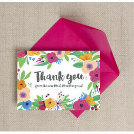 Floral Fiesta Thank You Card