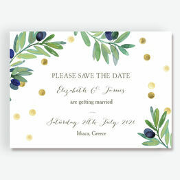 Olive Wreath Save the Date
