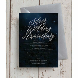 Starry Night 25th / Silver Wedding Anniversary Invitation